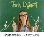 think different concept   Shutterstock . vector #354940241