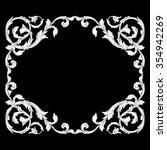 vintage baroque frame scroll... | Shutterstock .eps vector #354942269