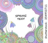 doodle spring frame from season ... | Shutterstock .eps vector #354953711