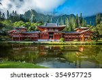 Byodo In Temple In Valley Of...