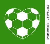 Soccer Ball Heart On Green...