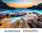 beautiful hawaiian colors of a... | Shutterstock . vector #354961901