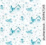 winter house. hand drawn vector ...   Shutterstock .eps vector #354967145