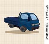 truck theme elements vector  eps | Shutterstock .eps vector #354968621