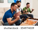 profile view of a group of male ...   Shutterstock . vector #354974039