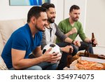 profile view of a group of...   Shutterstock . vector #354974075