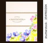 vintage delicate invitation... | Shutterstock .eps vector #354983204