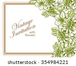 romantic invitation. wedding ... | Shutterstock . vector #354984221