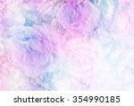 Stock photo beautiful roses background unfocused mad with paper texture 354990185