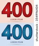 400 luxury font designed using...   Shutterstock .eps vector #354996404