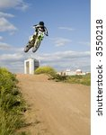 motocross rider in the air 6 | Shutterstock . vector #3550218