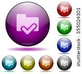 set of color folder ok sphere...