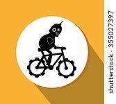 funny robot cartoon graphic... | Shutterstock .eps vector #355027397