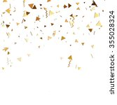 Vector Golden Confetti. Falling ...