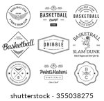 basketball badges and crests... | Shutterstock .eps vector #355038275