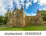 ruins of the church convict ... | Shutterstock . vector #355039319