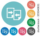 flat share documents  icon set...