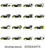 car service symbol for web icons | Shutterstock .eps vector #355043474