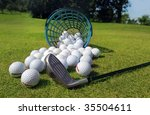Golf Balls Pouring Out Of...