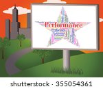 performance star showing... | Shutterstock . vector #355054361