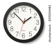 round wall clock without... | Shutterstock .eps vector #355054481