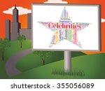 celebrities star representing... | Shutterstock . vector #355056089