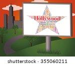 hollywood star indicating film... | Shutterstock . vector #355060211