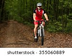 image of rider in action at... | Shutterstock . vector #355060889