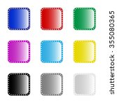 set of color app icons. | Shutterstock .eps vector #355080365
