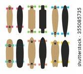 skateboards type set | Shutterstock .eps vector #355085735