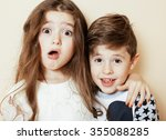Little Cute Boy And Girl...