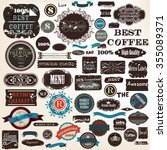 big collection or set of vector ... | Shutterstock .eps vector #355089371