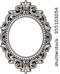 vector vintage border frame... | Shutterstock .eps vector #355103054