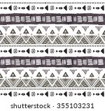 seamless colorful aztec pattern.... | Shutterstock . vector #355103231