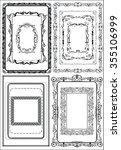 black and white frames ... | Shutterstock .eps vector #355106999