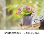 Colorful Artificial Flowers In...