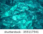 gentle teal fond of sparkling... | Shutterstock . vector #355117541
