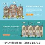 real estate market flat line... | Shutterstock .eps vector #355118711