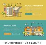 real estate market flat line... | Shutterstock .eps vector #355118747