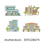 flat line architecture design.... | Shutterstock .eps vector #355128674