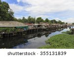 old house water thai waterfront ... | Shutterstock . vector #355131839