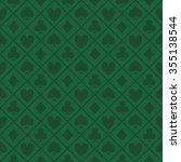 green pattern fabric poker table | Shutterstock .eps vector #355138544