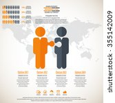 business management  strategy... | Shutterstock .eps vector #355142009