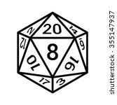 20 sided   20d dice with... | Shutterstock .eps vector #355147937