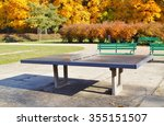 ping pong table in a public... | Shutterstock . vector #355151507