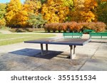 ping pong table in a public... | Shutterstock . vector #355151534