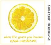 low polygon fruit vector. slice ...   Shutterstock .eps vector #355154099