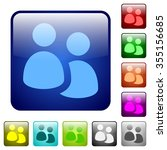 set of user group color glass...