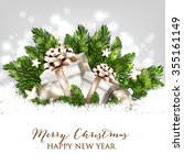 merry christmas and happy new... | Shutterstock .eps vector #355161149