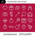 valentines day icons | Shutterstock .eps vector #355162859